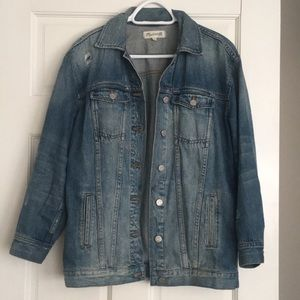 Madewell Oversized Distressed Denim Jean Jacket XS